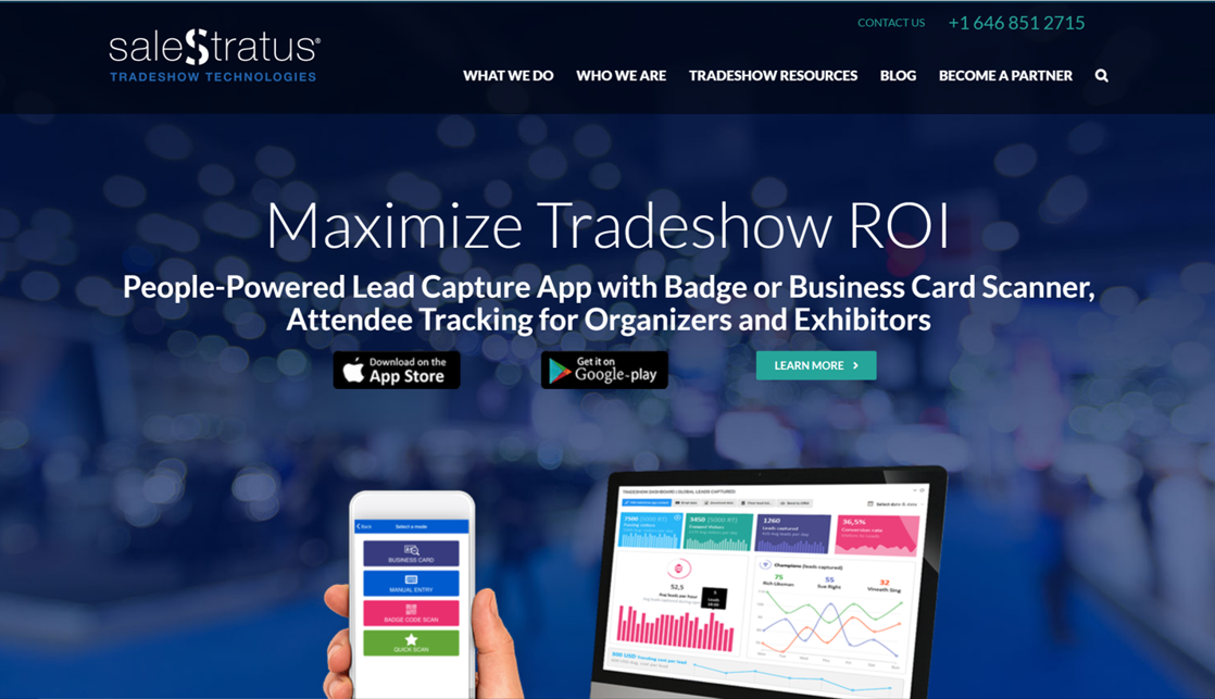 SaleStratus Website Home Page
